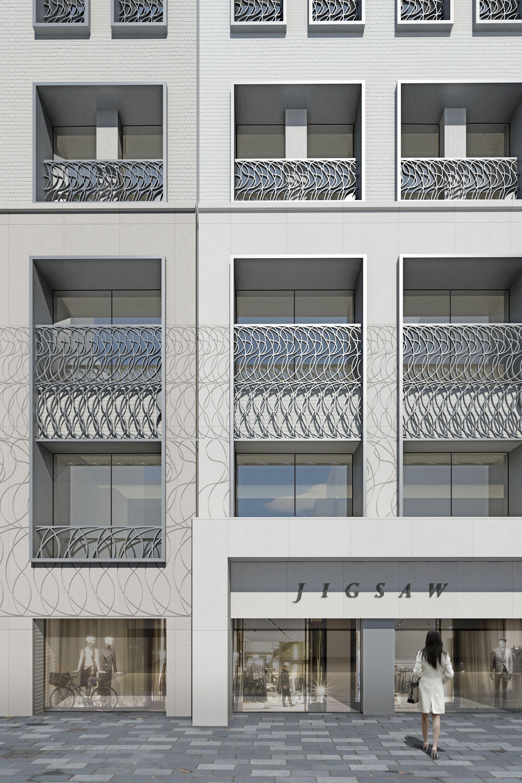 office facades. Stratford Place London Office Facade. Stone And Metalwork. Facades M