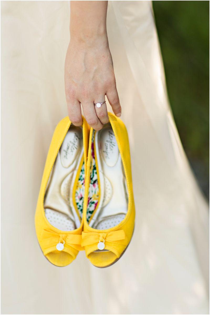 Yellow P Toe Wedding Shoes Courtney Bowlden Photography On Blacksheepbride