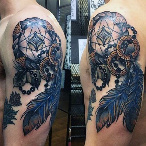 40 Dreamcatcher Tattoos For Men Cool Tattoos For Men Pinterest Gorgeous Dream Catcher Tattoo For Guys