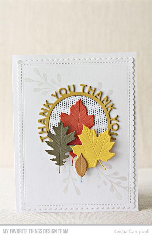 Thank You Circle Frame Die-namics, Falling Leaves Die-namics, Mini Scallop Edge Rectangle STAX Die-namics, Grateful Stamp Set - Keisha Campbell  #mftstamps