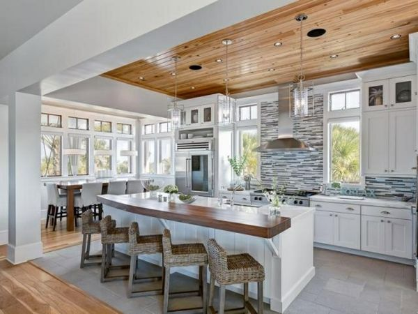 Moderne Küchen rattan stühle Kochinsel küchenblock freistehend ...