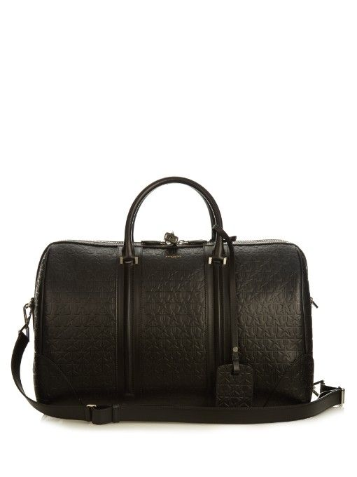5b0f89cd25 GIVENCHY Star-Embossed Leather Weekend Bag. #givenchy #bags #leather  #lining #travel bags #weekend #canvas