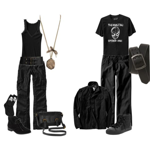 Goth from Old Navy by theeverydaygoth on Polyvore featuring Old Navy