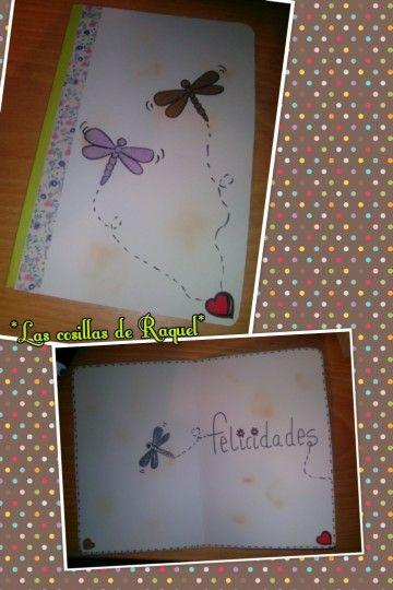 tarjeta cumpleaños libélula