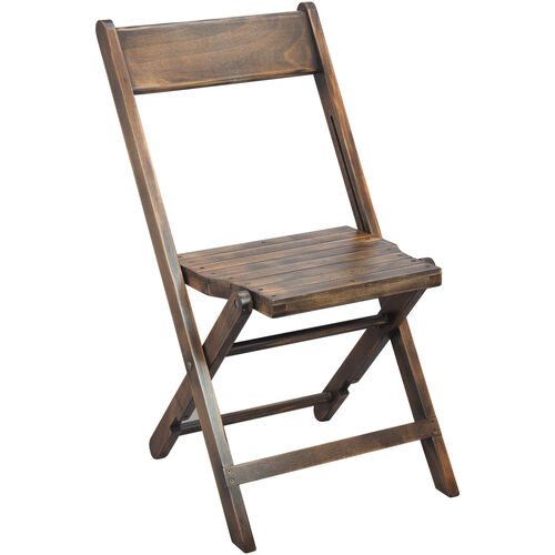 Advantage Slatted Wood Folding Wedding Chair Antique Black In