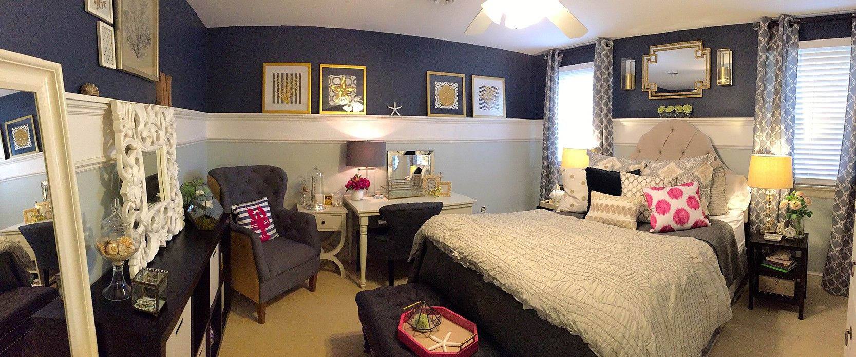 Teen Bedroom with Glam Accents Webb Smith