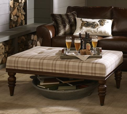 A Good Ottoman Seems More Practical Than A Coffee Table I