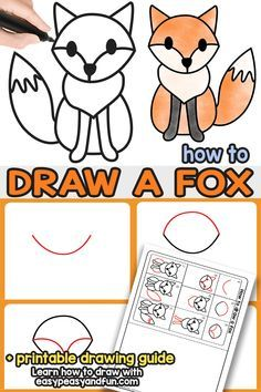 How to Draw a Fox - Step by Step Fox Drawing Tutorial - Easy Peasy and Fun