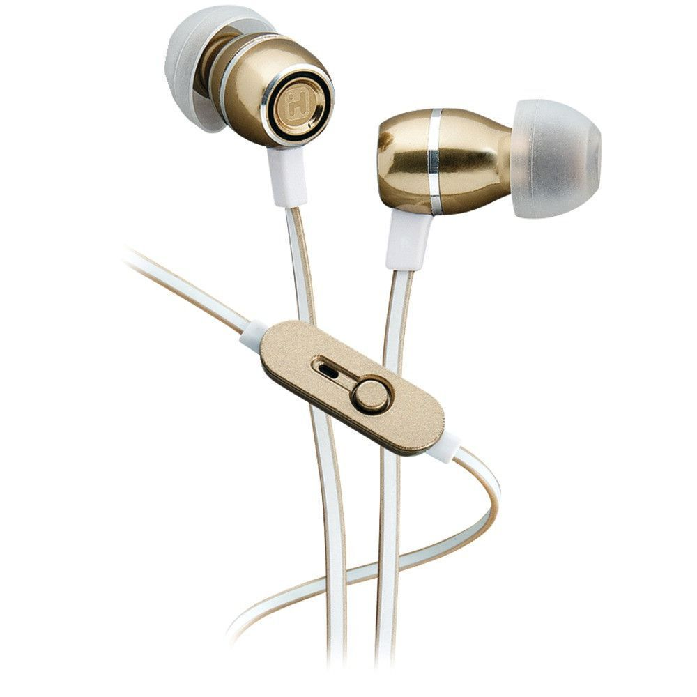 4bed58d22f2 Ihome Noise-isolating Metal Earbuds With Microphone (champagne ...