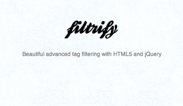 Filtrify – Advanced tag filtering with HTML5 and jQuery