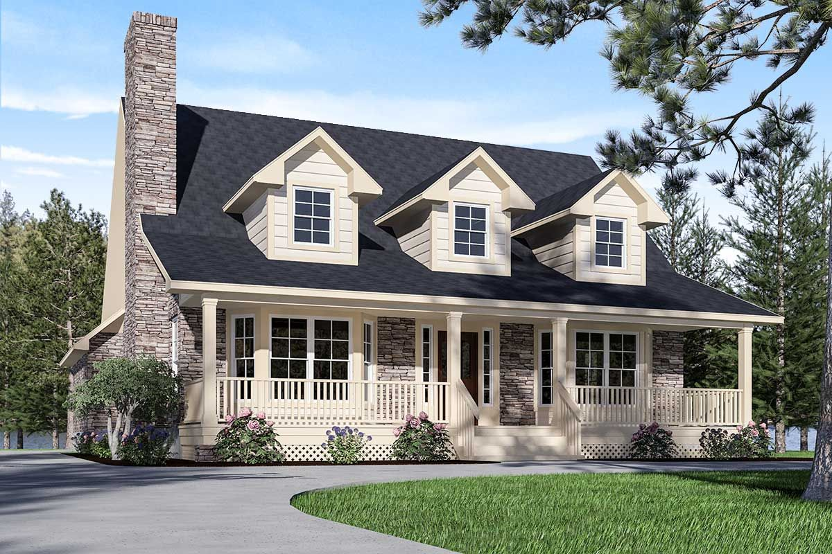 Plan 3087d Refined Country Home Plan In 2020 Country House Plans House Plan With Loft House Plans Farmhouse