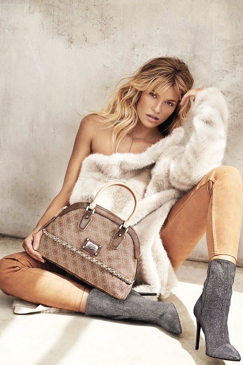 fe36bafb16 guess accessories 2014 fall winter campaign2 Samantha Hoopes Turns Up the  Glam for Guess Accessories Fall Ads
