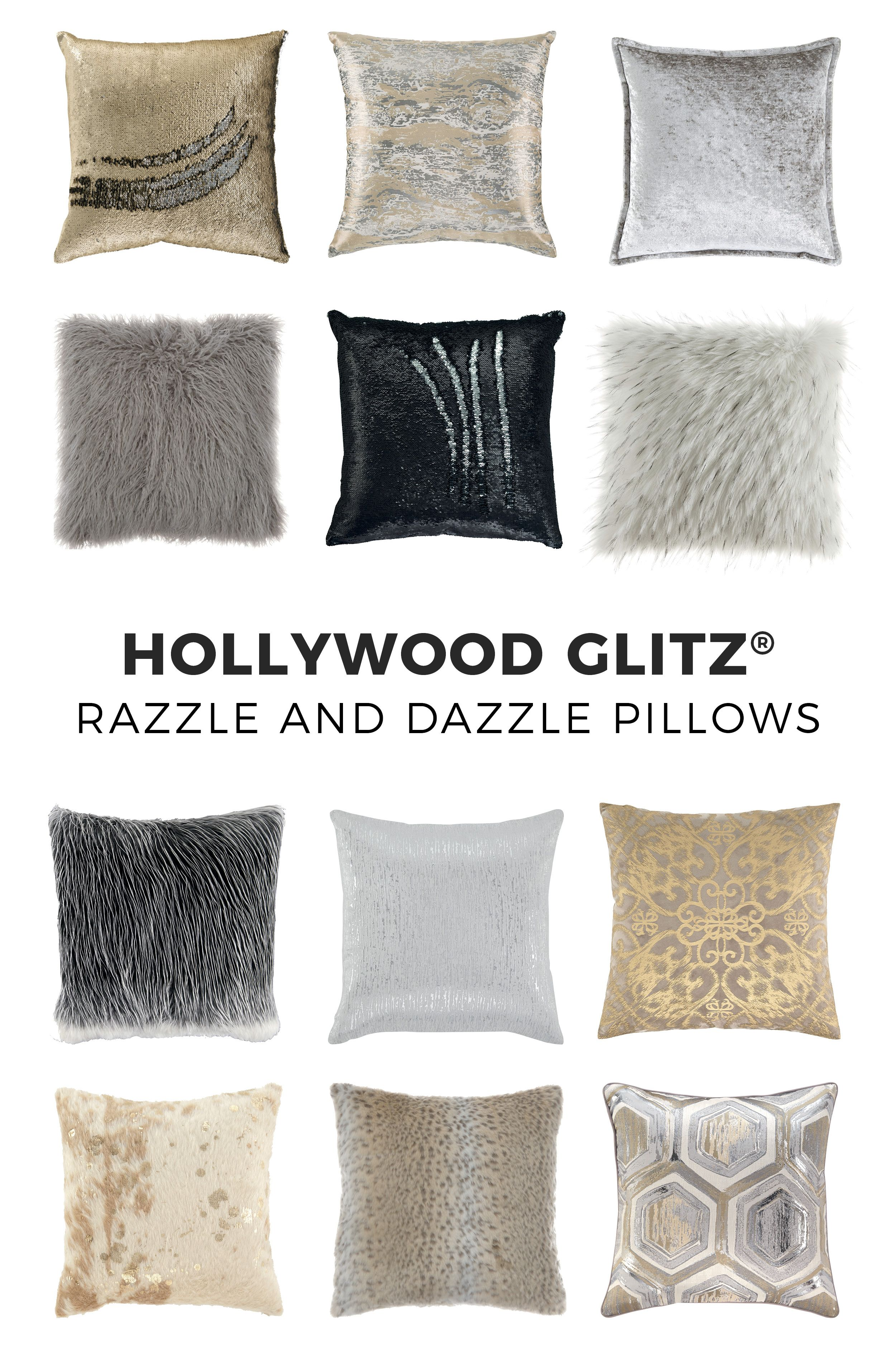 Razzle And Dazzle With These Hollywood Glitz Pillows By Ashley Furniture Ashleyfurniture Hollywoodglitz