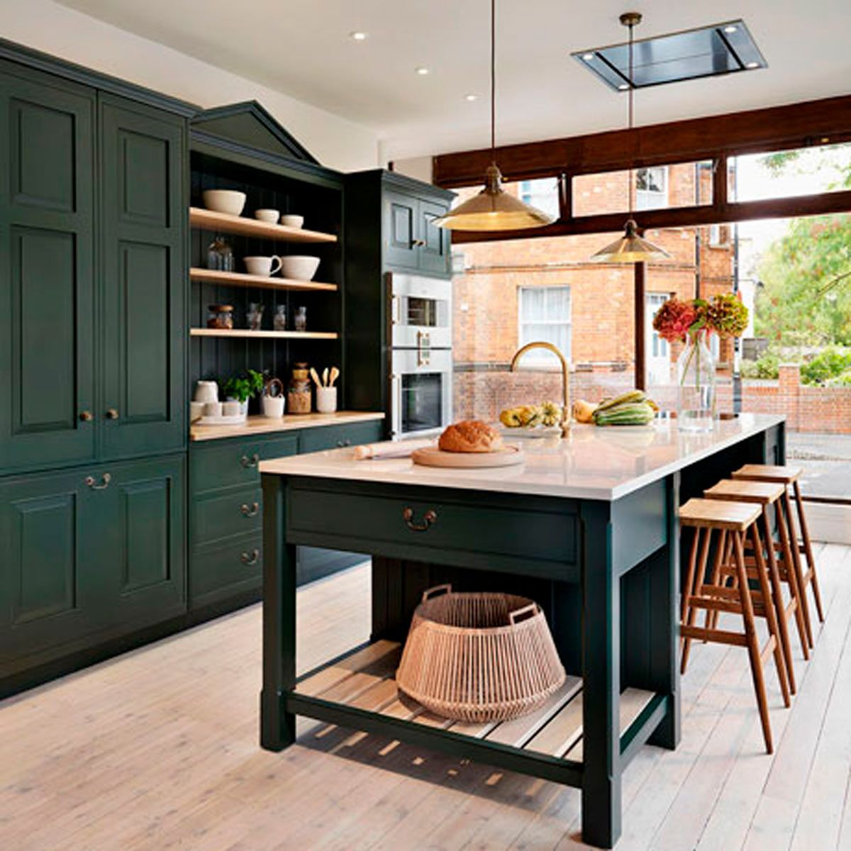 13 Stunning Dark Kitchen Cabinet Ideas Green Kitchen Cabinets Interior Design Kitchen Dark Green Kitchen