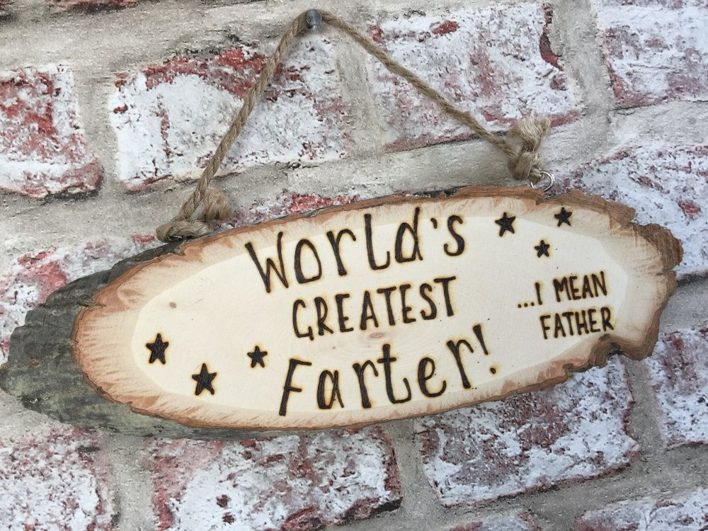 Dad Farter Father Engraved Personalised Wooden Plaque Sign Gift