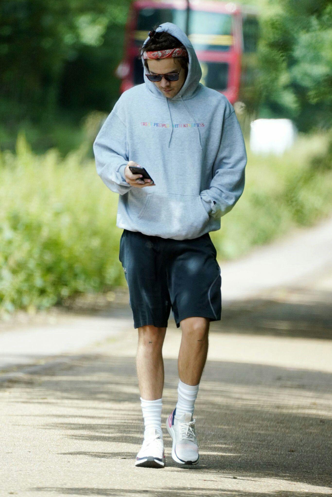 Harry Styles wearing Adidas Energy Boost 3 Sneakers | Harry