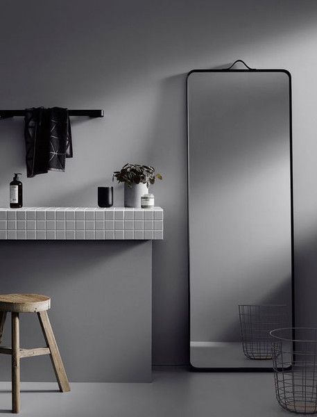 Norm floor mirror by Norm Architects for Menu A/S bathroom ...