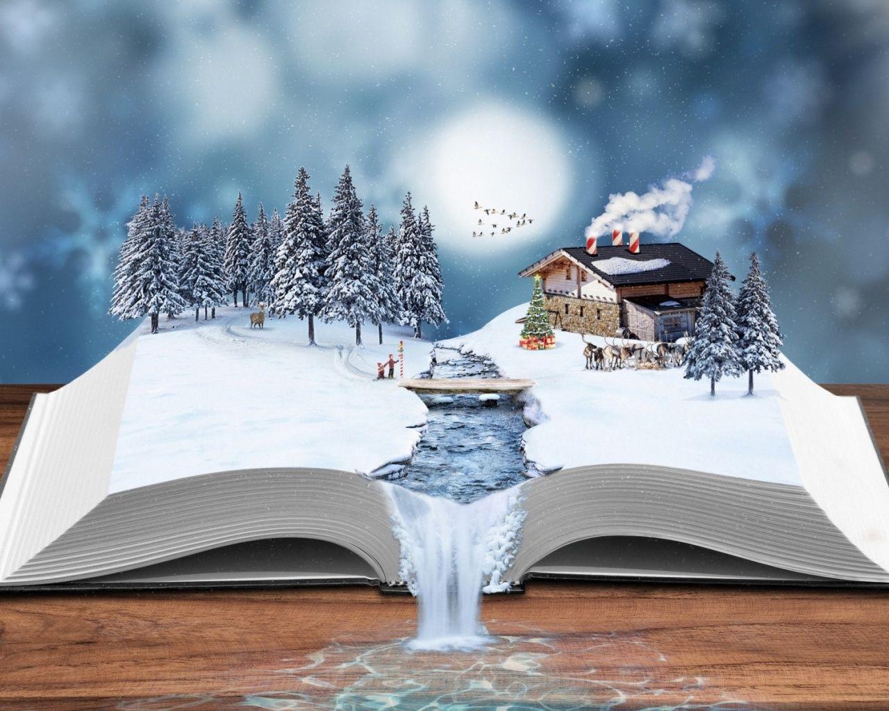 1280x1024 Winter Book Book Wallpaper Winter Books Winter Writing