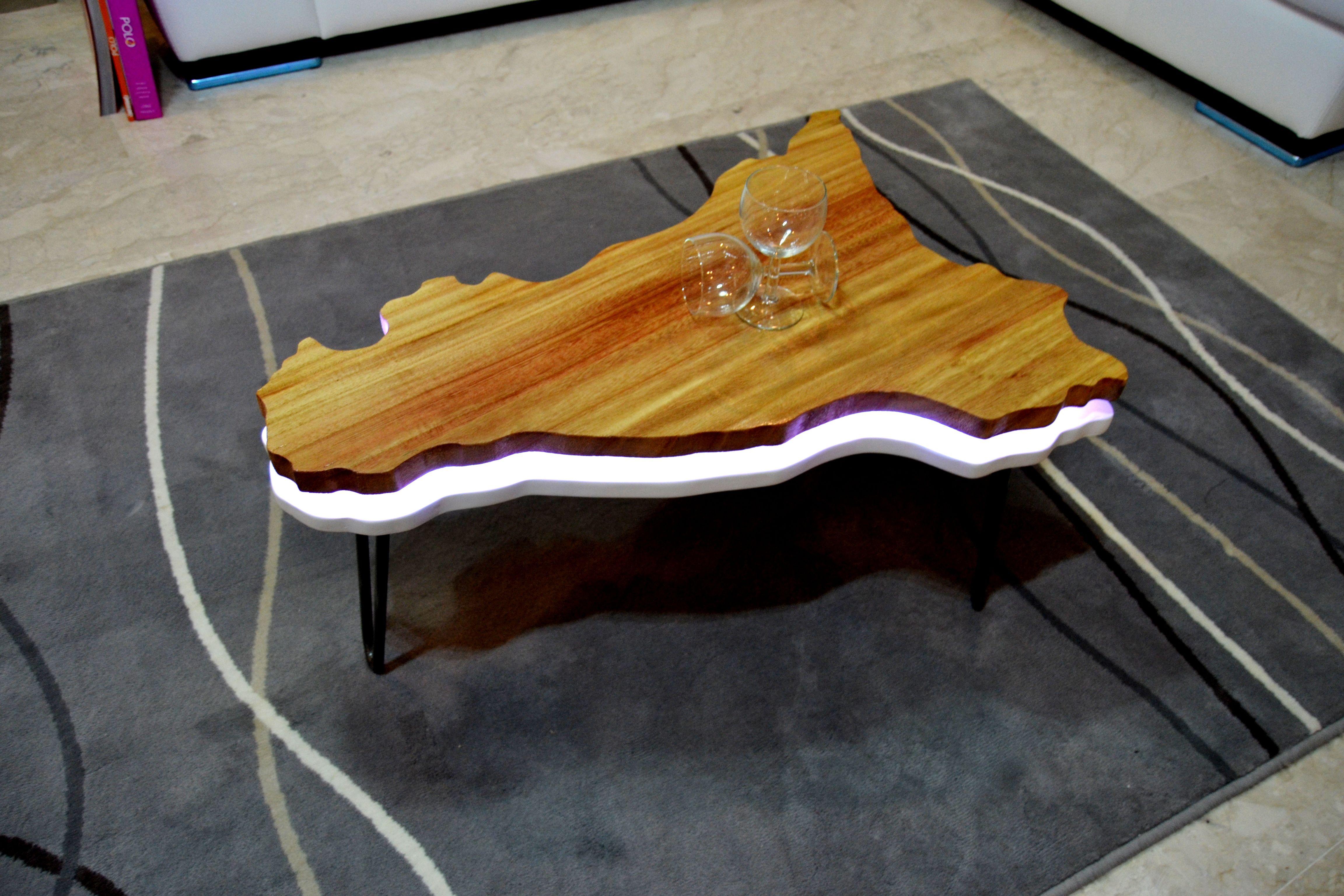 Tavolino Da Salotto Led Coffee Table Led Table Basse Led Mesa De Centro Led Unique Design Tavolini Salotto Moderno Tavolo Soggiorno