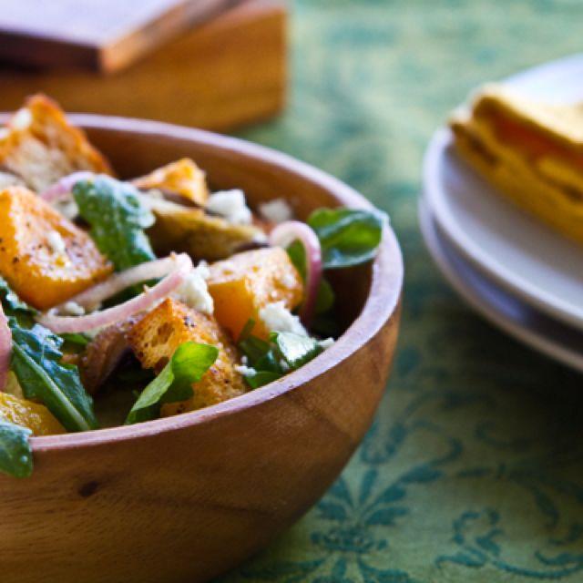 Butternut Squash Panzanella Salad  http://www.acommunaltable.com/butternut-panzanella-salad/