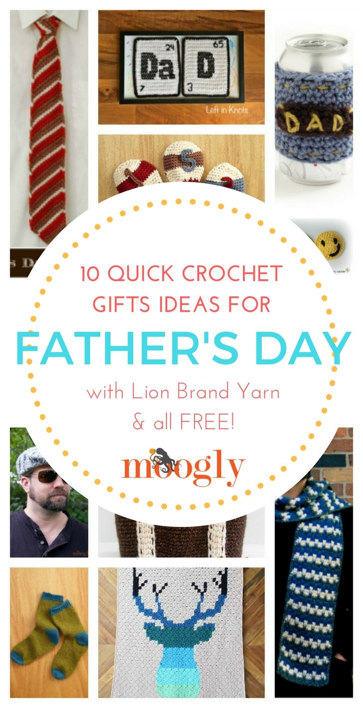 Father\'s Day Gift Ideas: 10 Free Crochet Patterns in Lion Brand Yarn ...