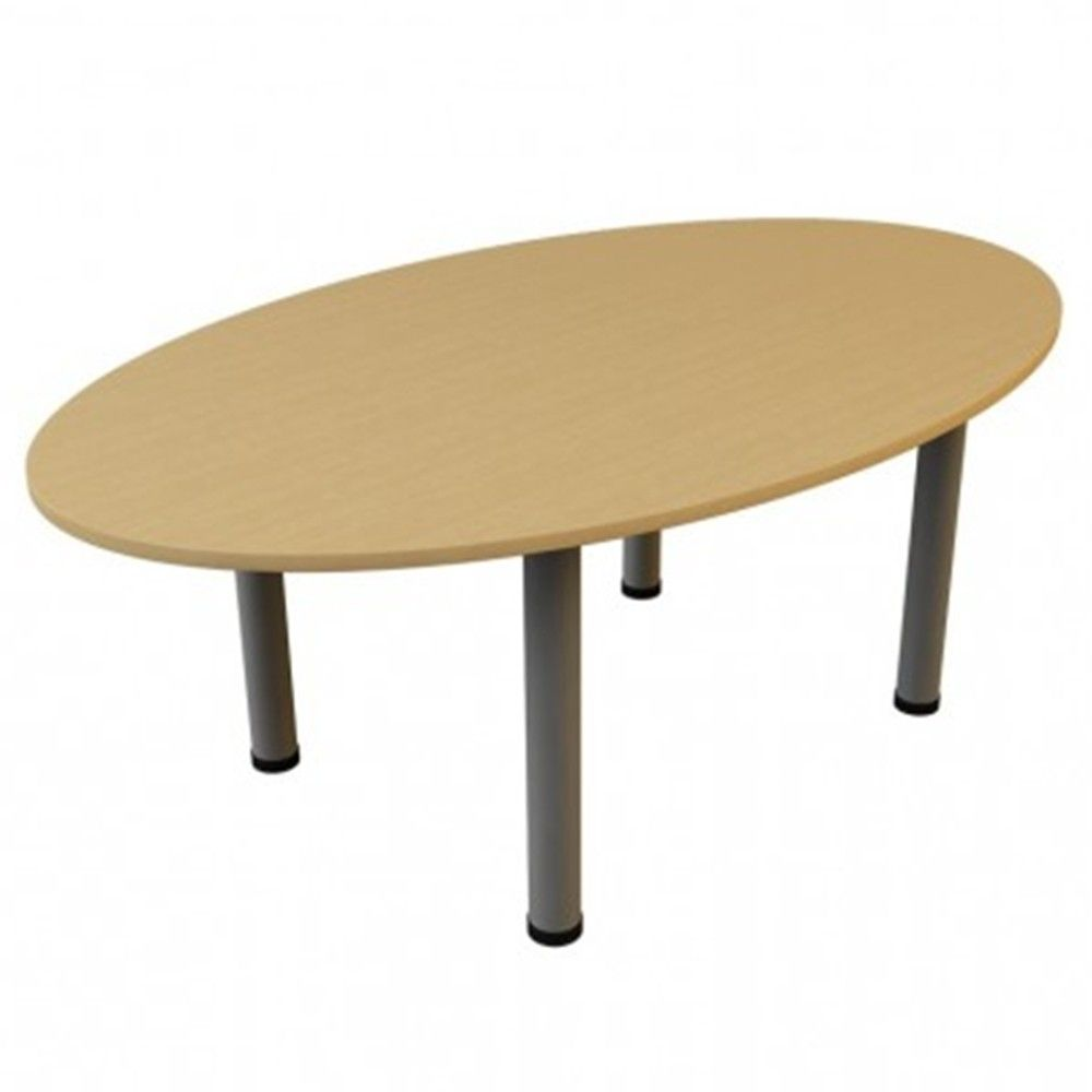 Oval Shaped Boardroom Table   80mm Tubular Legs