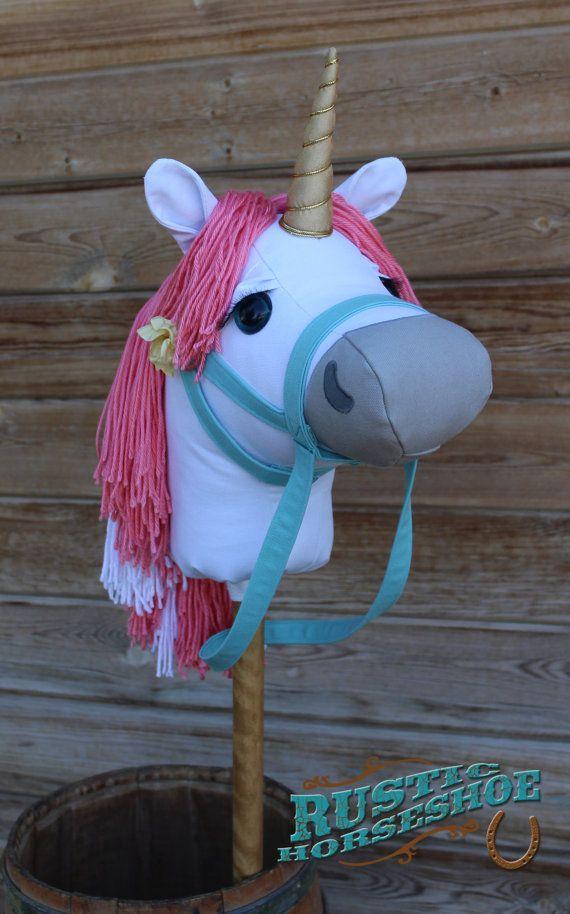 Unicorn stick horse mustang collection caprice von rustichorseshoe sew fun pinterest - Cabezas animales tela ...
