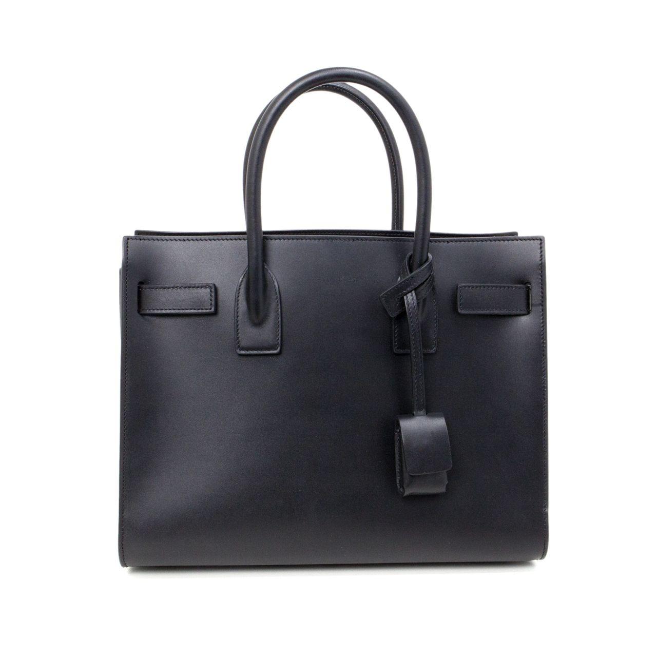 41093619cb5c7 YSL Saint Laurent Black Smooth Leather Baby Sac De Jour - modaselle ...