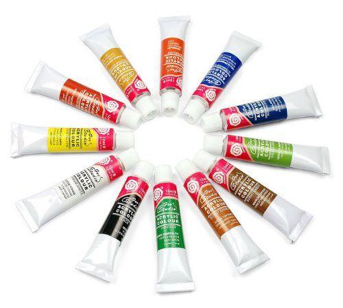 12ml 12color Acrylic Nail Art Paint Tips Uv Gel Set Diy This Is An