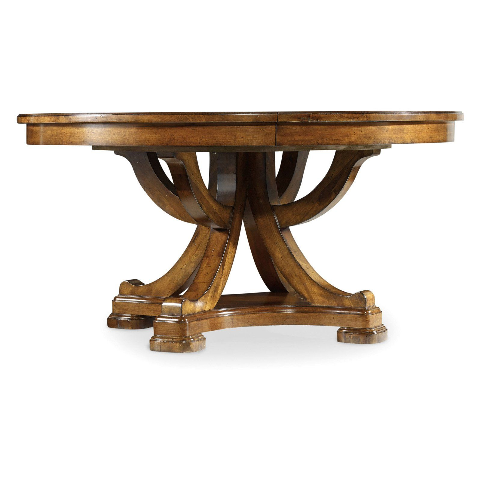 Hooker Furniture Tynecastle Round Pedestal Extension Dining Table | From  Hayneedle.com
