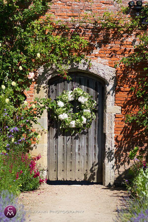 Herbs & Flowers Home Made Walled Garden Wedding Art Deco