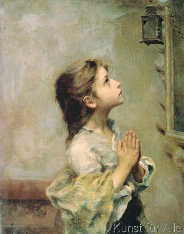 Roberto Ferruzzi - Girl Praying, nun seid ihr groß, vergesst es nie