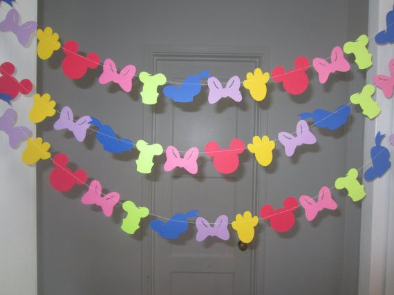 mickey mouse clubhouse inspired paper garland banner decorations birthday clubhouse