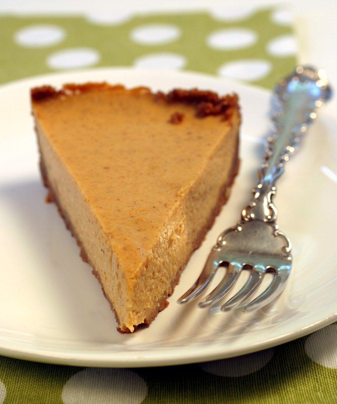 Pumpkin Tofu Cheesecake Recipe Pumpkin Cheesecake Thanksgiving Food Desserts Easy Vegan Dessert