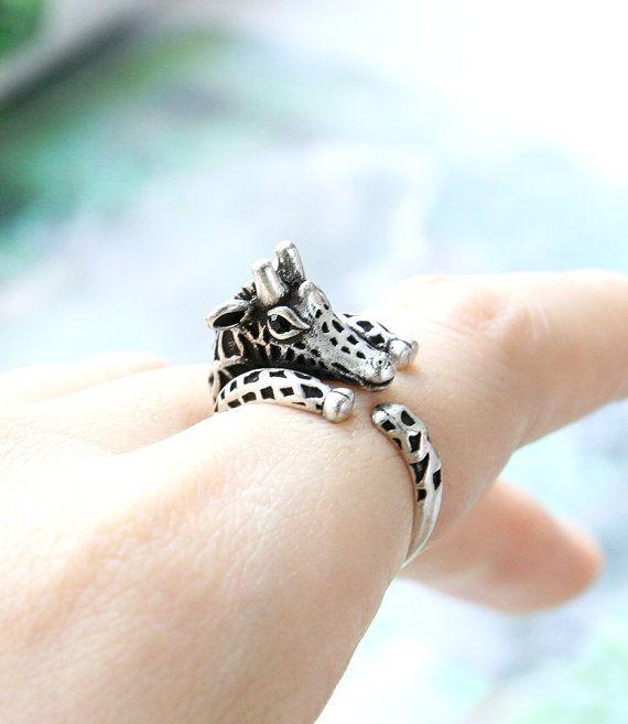 Giraffe Ring, Adjustable Ring, Animal Ring, Everyday Ring, Antique Ring, Vintage Ring, Gift Ring, Gift Idea