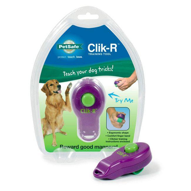 Starmark Clicker Dog Trainer Blue And Orange Dog Clicker