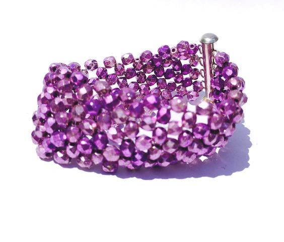 forget me not  #wide #handmade #bracelet in #purple  http://www.instagram.com/icee.u