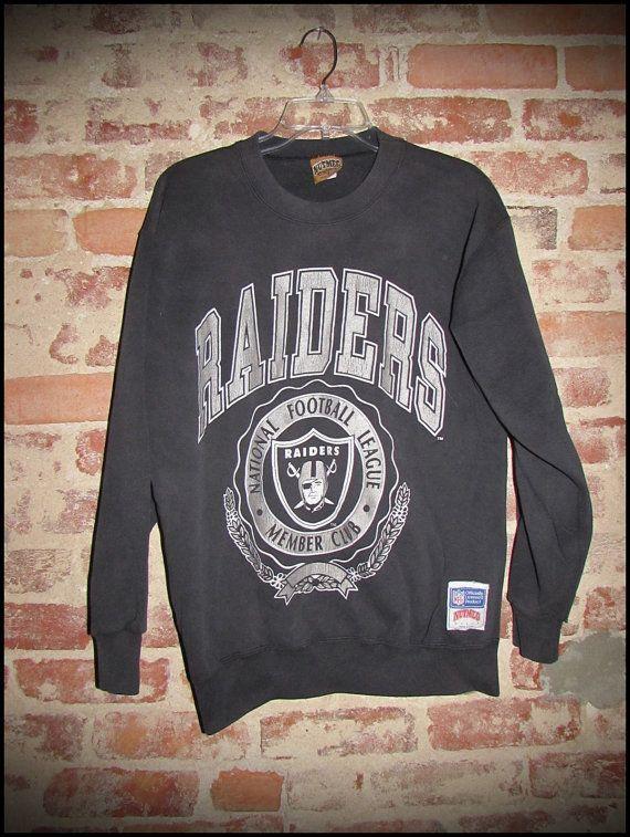 f203e0848 Vintage 90 s LA Los Angeles Raiders NFL Crewneck Sweatshirt by  RackRaidersVintage
