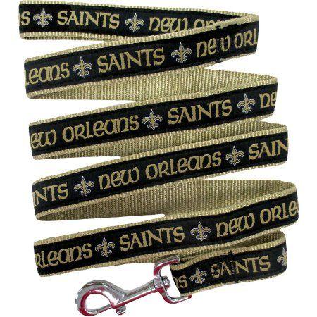 Pets First NFL New Orleans Saints Pet Leash, Black