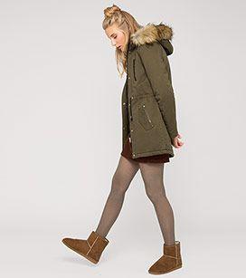 Parka in der Farbe khaki bei C&A | Mode, Angesagte mode ...