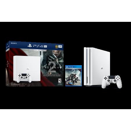 Sony Playstation 4 Pro 1tb Limited Edition Destiny 2 Bundle White 3002210 Walmart Com Ps4 Pro Bundle Ps4 Pro Sony