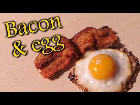 Polymer Clay Fried Egg & Bacon Tutorial - YouTube