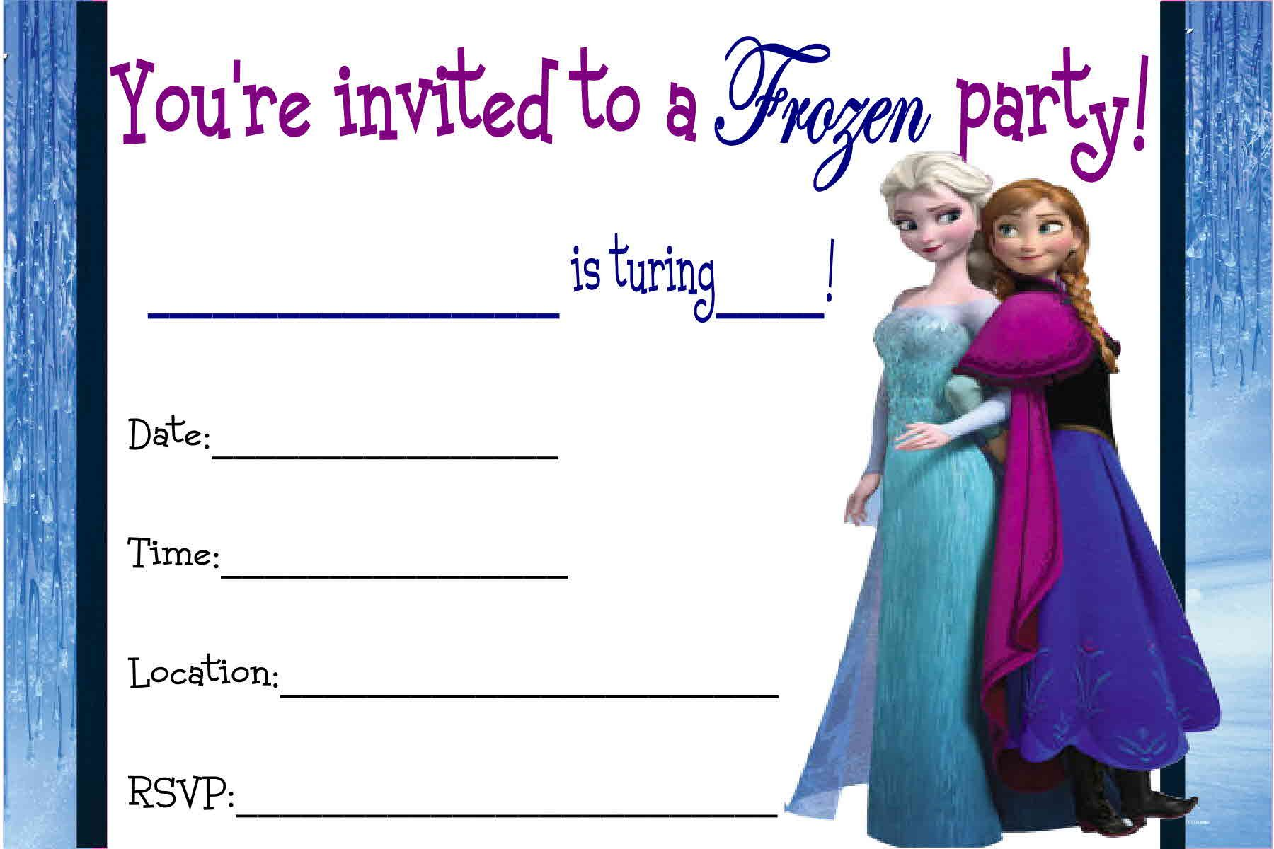 photograph about Free Printable Frozen Invites named No cost Printable Disney Frozen Invites No cost Printable