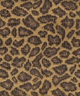 Leopard Patterned Chenille Upholstery Fabric Pattern Cozumel In