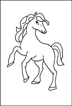 malvorlage - pferd | malvorlagen pferde, kostenlose
