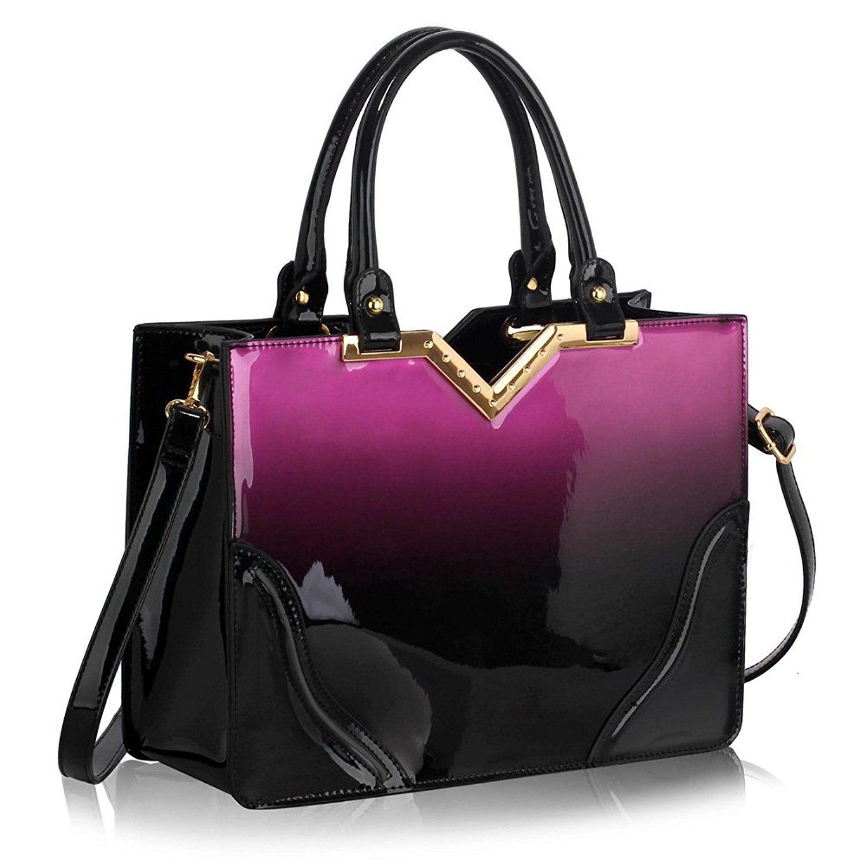 72b0a2affea5 Womens Handbags Ladies Designer Faux Leather Stylish Tote Shoulder ...