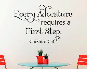 Alice In Wonderland Wall Decal Cheshire Cat Every By FabWallDecals Part 90