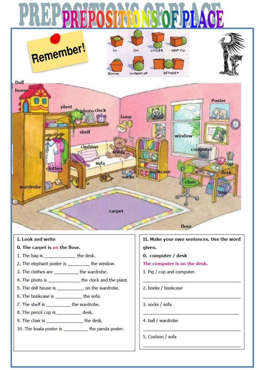 Prepositions Of Place English Prepositions Teaching English Grammar English Lessons For Kids