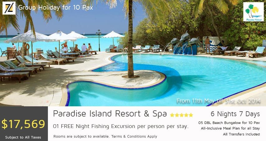 Paradise Island Resort Spa 6 Nights 7 Days Group