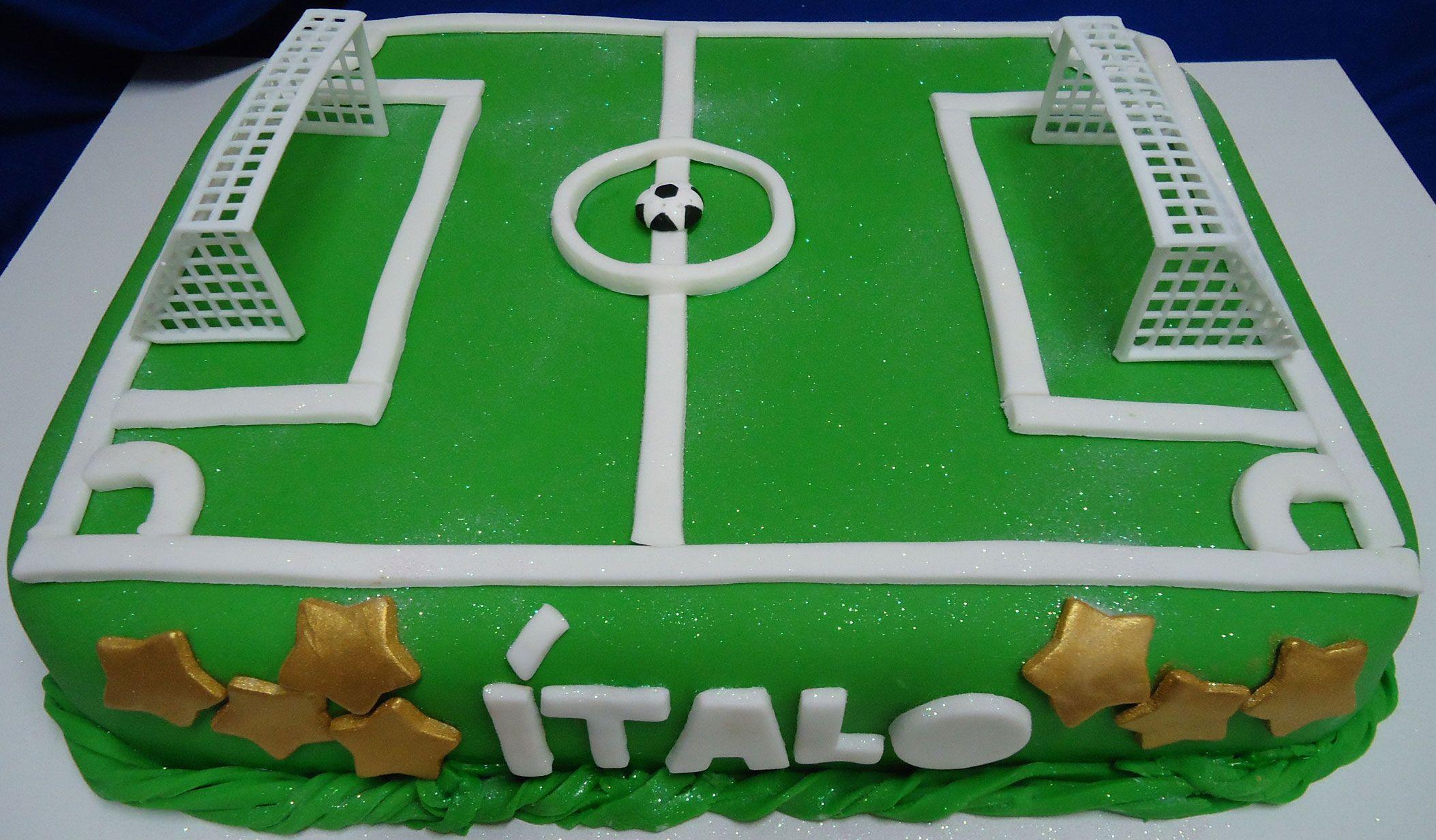 Bolo Campo de Futebol Decorado com Pasta Americana - Football Cake -  https    3753aaf83f6a0